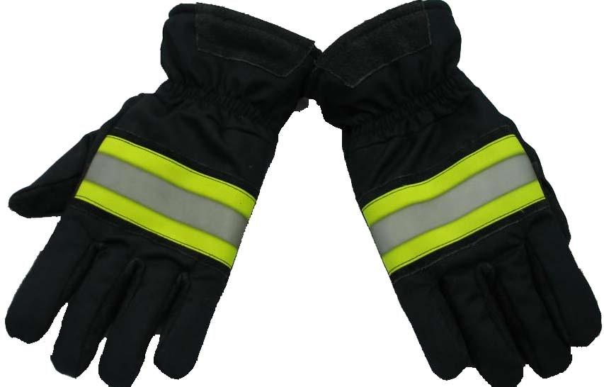 Fireman gloves Fire resistant with high visibility reflector