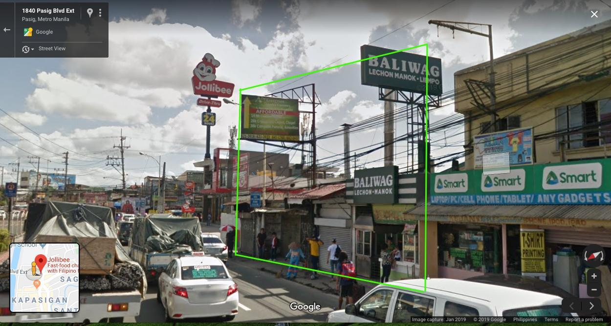Commercial lot with 4 unit stalls along Pasig Boulevard Extension Pasig City