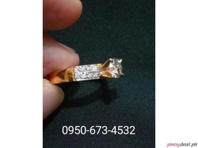 14k gold ring with 0.60ct diamonds and brilliantitos