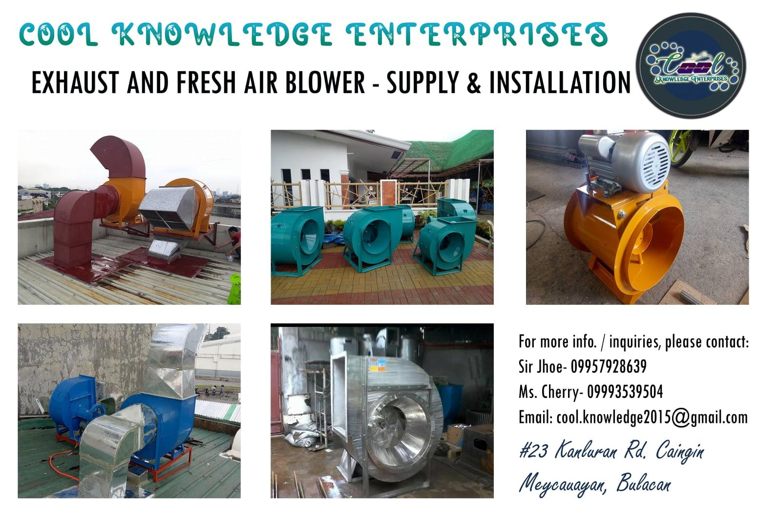 Exhaust Motor / Fresh Air Blower - Supply and Installation