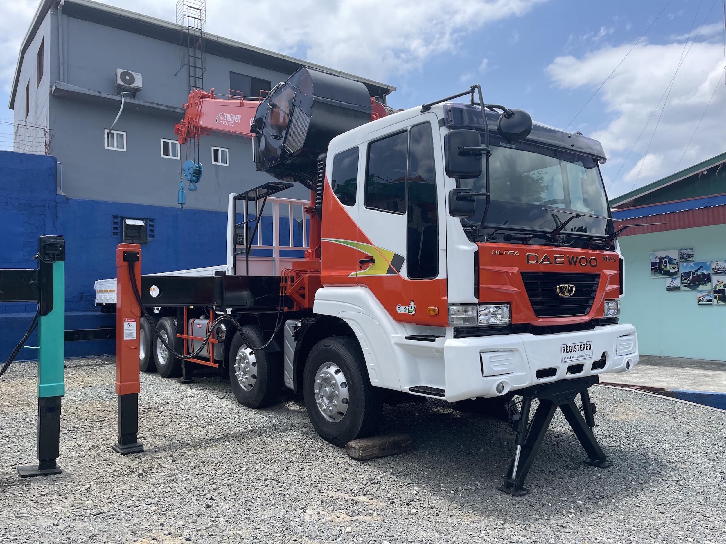 Euro4 19 tonner boom truck