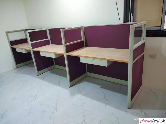 Fabric with Glass workstation desk