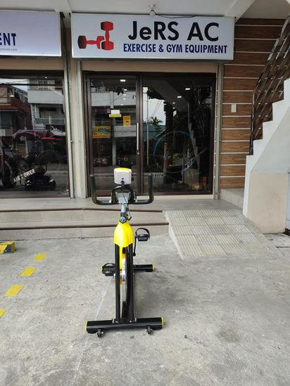 Yellow Spinning Exercise Fitness Bike