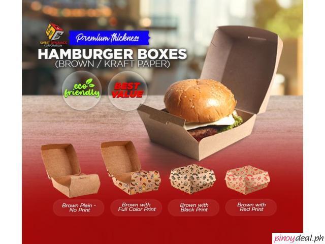 SDC Hamburger Boxes (Brown/Kraft Paper) Premium Thickness
