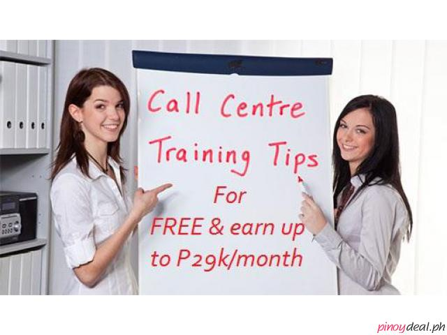 Get TRAINED for FREE and earn up to P29k/month – Cebu Call Center