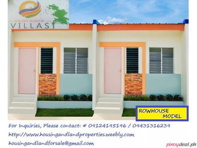 Ready for Occupancy row house for sale in Trece Martires at Golden Horizon Villas