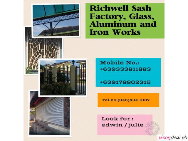 Richwell Sash Factory, Glass, Aluminum and Iron Works