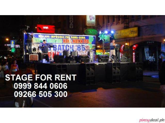 stage platform  and roof for rent