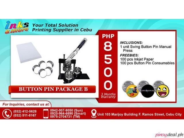 PERSONALIZED PRINTING BUSINESS BUTTON PIN PACKAGE 2