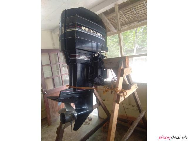 Mercury Outboard Engine 150HP 2 Stroke w/ Controls Oil Injected Black Max