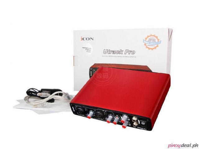 ICON Utrack Pro USB Record Sound Card Audio MIDI Interface Computer digital