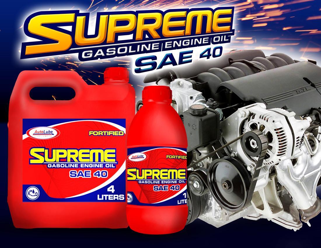 AutoLube Supreme Gasoline Motor Engine Lube Oil Lubricant