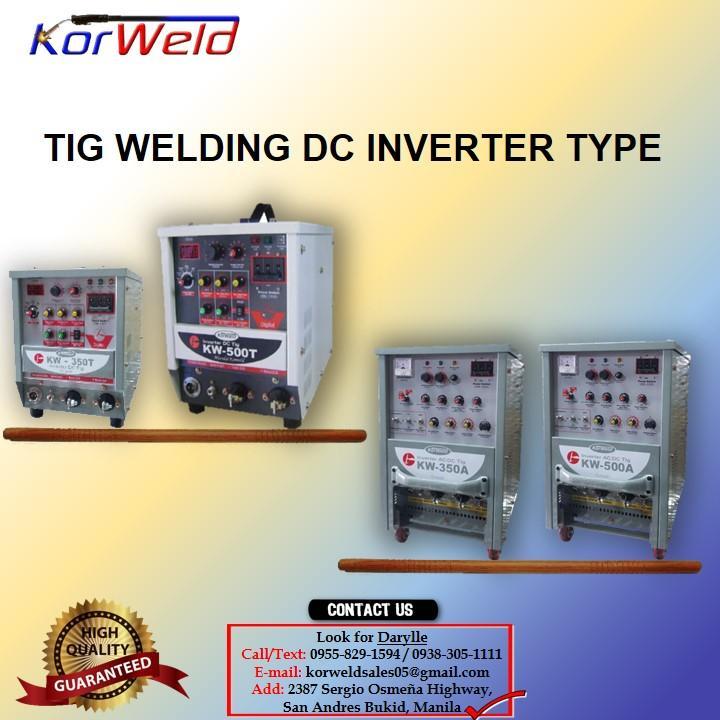TIG Welding ACDC Korweld-350Amps (220V,440V) Inverter Type