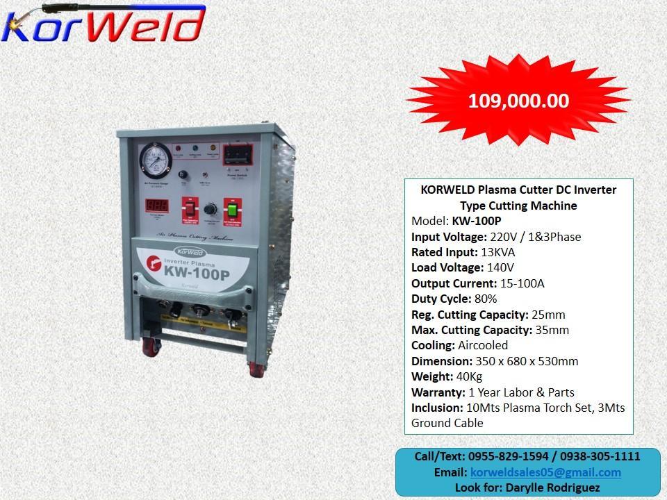 Plasma Cutting Machine Korweld 100P (220V) Inverter Type