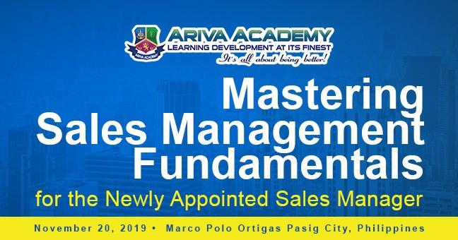 Mastering Sales Management Fundamentals for the Newly Appointed Sales Manager