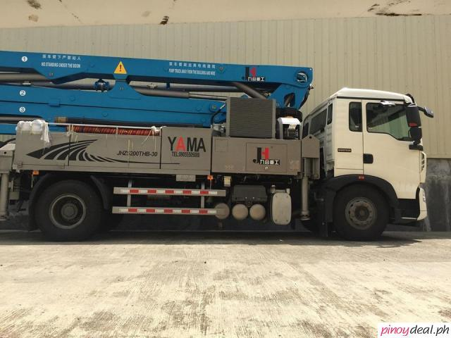 HOWO TRUCK MOUNTED YAMA CONCRETE PUMP ,
