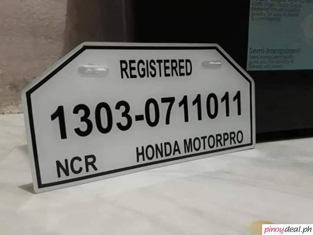 Made to Order Motor Plate