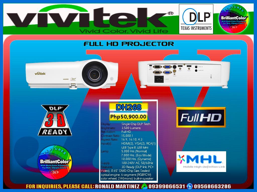 Projector Vivitek DH268 Full HD3D Ready 3500 ANSI Lumens
