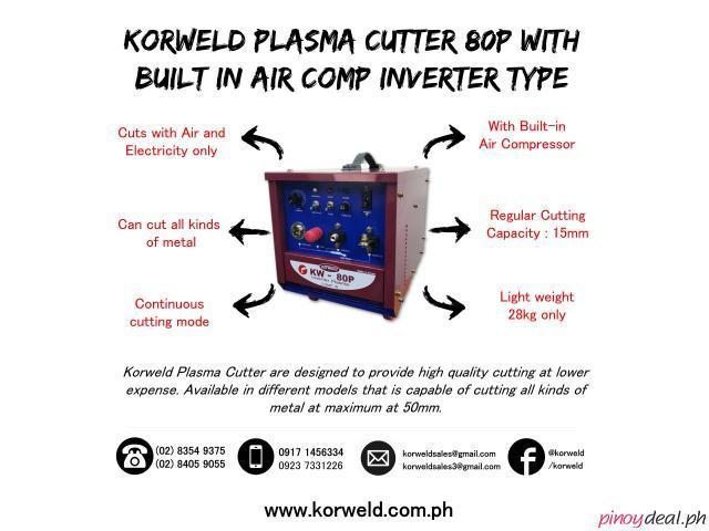 Korweld 80P Plasma Cutter with built-in air compressor DC Inverter Type