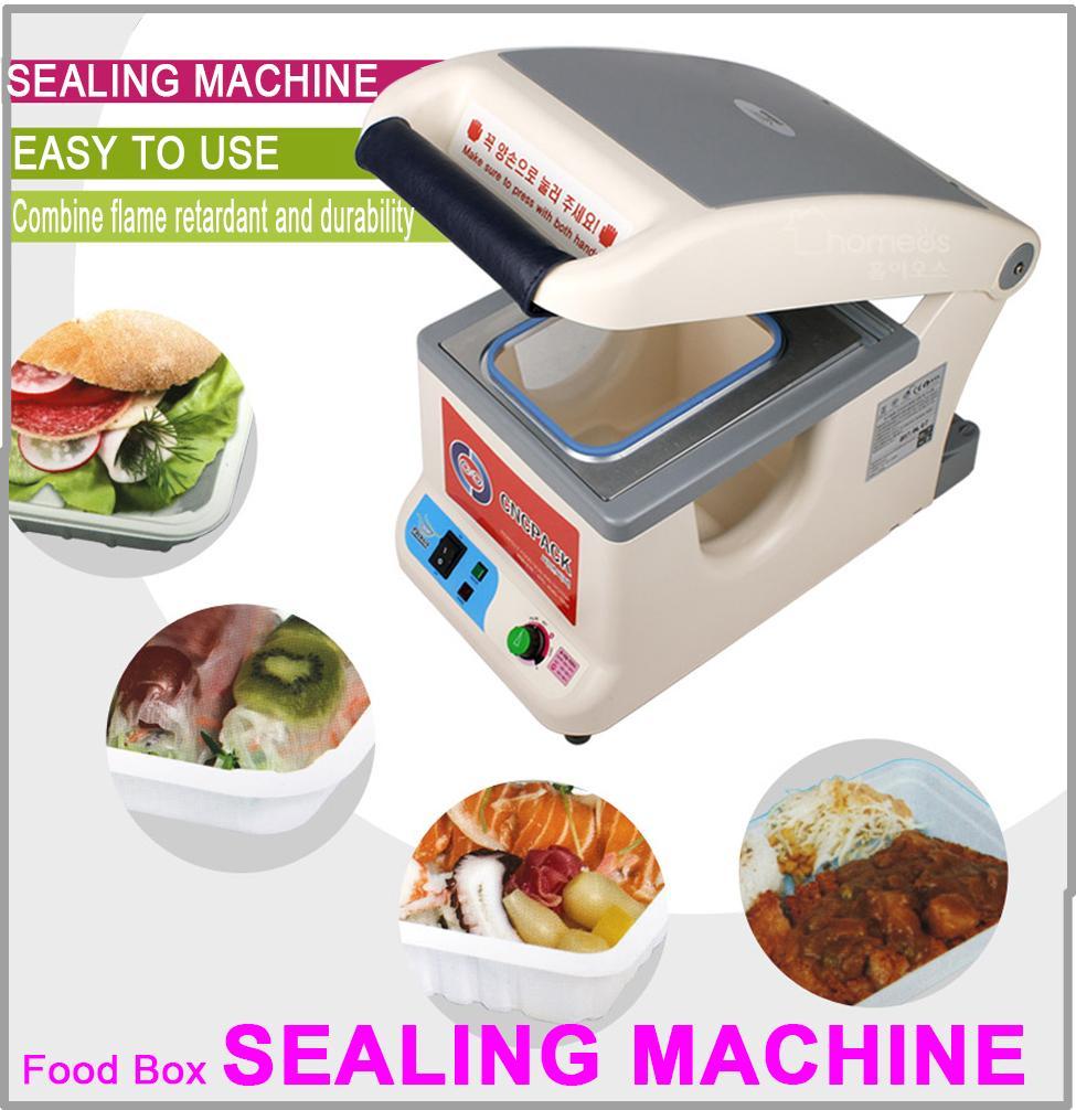 Semi Automatic Tray Sealer Bento Food Box Sealing Machine